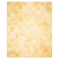 Safavieh Dip Dye Link Trellis 8-Foot x 10-Foot Area Rug in Gold/Ivory