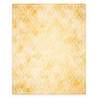 Safavieh Dip Dye Link Trellis 9-Foot x 12-Foot Area Rug in Gold/Ivory