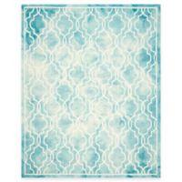 Safavieh Dip Dye Link Trellis 9-Foot x 12-Foot Area Rug in Turquoise/Ivory