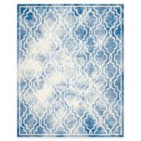 Safavieh Dip Dye Link Trellis 9-Foot x 12-Foot Area Rug in Blue/Ivory
