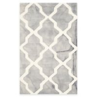 Safavieh Dip Dye Diamonds 2-Foot 6-Inch x 4-Foot Accent Rug in Grey/Ivory
