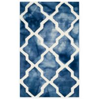 Safavieh Dip Dye Diamonds 2-Foot 6-Inch x 4-Foot Accent Rug in Navy/Ivory