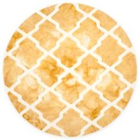 Safavieh Dip Dye Diamonds 7-Foot Round Area Rug in Gold/Ivory