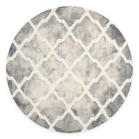 Safavieh Dip Dye Diamonds 7-Foot Round Area Rug in Grey/Ivory