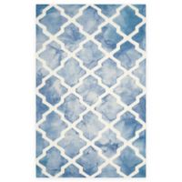 Safavieh Dip Dye Diamonds 6-Foot x 9-Foot Area Rug in Blue/Ivory