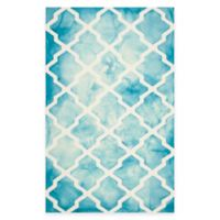Safavieh Dip Dye Diamonds 6-Foot x 9-Foot Area Rug in Turquoise/Ivory