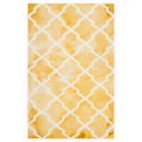 Safavieh Dip Dye Diamonds 6-Foot x 9-Foot Area Rug in Gold/Ivory
