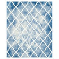 Safavieh Dip Dye Diamonds 8-Foot x 10-Foot Area Rug in Blue/Ivory