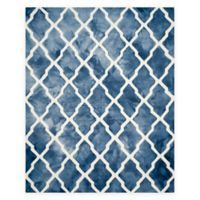 Safavieh Dip Dye Diamonds 8-Foot x 10-Foot Area Rug in Navy/Ivory