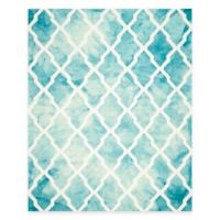 Safavieh Dip Dye Diamonds 9-Foot x 10-Foot Area Rug in Turquoise/Ivory