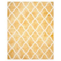 Safavieh Dip Dye Diamonds 9-Foot x 12-Foot Area Rug in Gold/Ivory