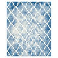 Safavieh Dip Dye Diamonds 9-Foot x 12-Foot Area Rug in Blue/Ivory
