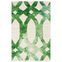 Safavieh Dip Dye Chain 2-Foot x 3-Foot Accent Rug in Ivory/Green