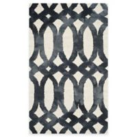 Safavieh Dip Dye Chain 2-Foot x 3-Foot Accent Rug in Ivory/Graphite
