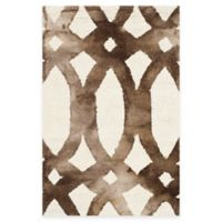 Safavieh Dip Dye Chain 2-Foot x 3-Foot Accent Rug in Ivory/Chocolate