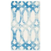 Safavieh Dip Dye Chain 2-Foot x 3-Foot Accent Rug in Ivory/Blue