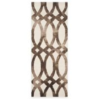 Safavieh Dip Dye Chain 2-Foot 3-Inch x 6-Foot Runner in Ivory/Chocolate