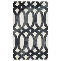 Safavieh Dip Dye Chain 3-Foot x 5-Foot Area Rug in Ivory/Graphite