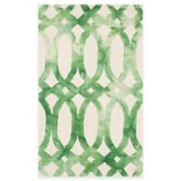Safavieh Dip Dye Chain 3-Foot x 5-Foot Area Rug in Ivory/Green