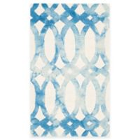 Safavieh Dip Dye Chain 3-Foot x 5-Foot Area Rug in Ivory/Blue
