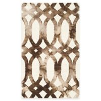 Safavieh Dip Dye Chain 3-Foot x 5-Foot Area Rug in Ivory/Chocolate