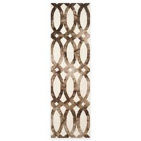 Safavieh Dip Dye Chain 2-Foot 3-Inch x 8-Foot Runner in Ivory/Chocolate
