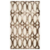 Safavieh Dip Dye Chain 4-Foot x 6-Foot Area Rug in Ivory/Chocolate