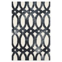 Safavieh Dip Dye Chain 4-Foot x 6-Foot Area Rug in Ivory/Graphite