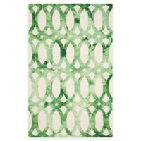 Safavieh Dip Dye Chain 4-Foot x 6-Foot Area Rug in Ivory/Green