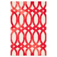Safavieh Dip Dye Chain 4-Foot x 6-Foot Area Rug in Ivory/Red
