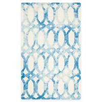Safavieh Dip Dye Chain 5-Foot x 8-Foot Area Rug in Ivory/Blue