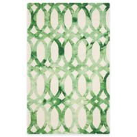 Safavieh Dip Dye Chain 5-Foot x 8-Foot Area Rug in Ivory/Green