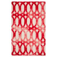 Safavieh Dip Dye Chain 5-Foot x 8-Foot Area Rug in Ivory/Red