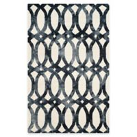 Safavieh Dip Dye Chain 5-Foot x 8-Foot Area Rug in Ivory/Graphite