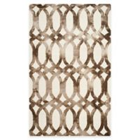 Safavieh Dip Dye Chain 5-Foot x 8-Foot Area Rug in Ivory/Chocolate