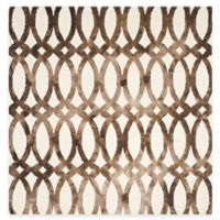 Safavieh Dip Dye Chain 7-Foot Square Area Rug in Ivory/Chocolate