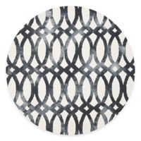 Safavieh Dip Dye Chain 7-Foot Round Area Rug in Ivory/Graphite