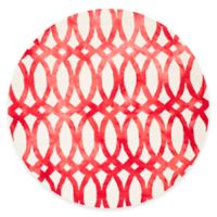 Safavieh Dip Dye Chain 7-Foot Round Area Rug in Ivory/Red
