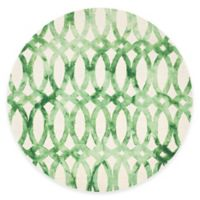 Safavieh Dip Dye Chain 7-Foot Round Area Rug in Ivory/Green