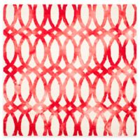 Safavieh Dip Dye Chain 7-Foot Square Area Rug in Ivory/Red
