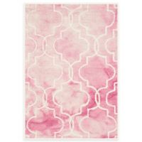 Safavieh Dip Dye Trellis 2-Foot x 3-Foot Accent Rug in Rose/Ivory