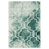 Safavieh Dip Dye Trellis 2-Foot x 3-Foot Accent Rug in Green/Ivory