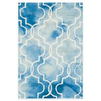 Safavieh Dip Dye Trellis 2-Foot x 3-Foot Accent Rug in Blue/Ivory