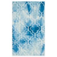 Safavieh Dip Dye Trellis 3-Foot x 5-Foot Area Rug in Blue/Ivory
