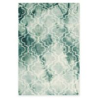 Safavieh Dip Dye Trellis 4-Foot x 6-Foot Area Rug in Green/Ivory