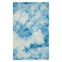 Safavieh Dip Dye Trellis 4-Foot x 6-Foot Area Rug in Blue/Ivory