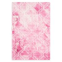 Safavieh Dip Dye Trellis 4-Foot x 6-Foot Area Rug in Rose/Ivory