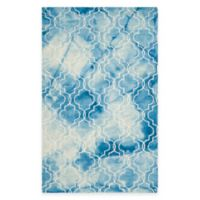 Safavieh Dip Dye Trellis 5-Foot x 8-Foot Area Rug in Blue/Ivory