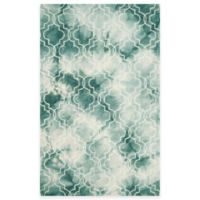 Safavieh Dip Dye Trellis 5-Foot x 8-Foot Area Rug in Green/Ivory