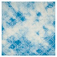 Safavieh Dip Dye Trellis 7-Foot Square Area Rug in Blue/Ivory